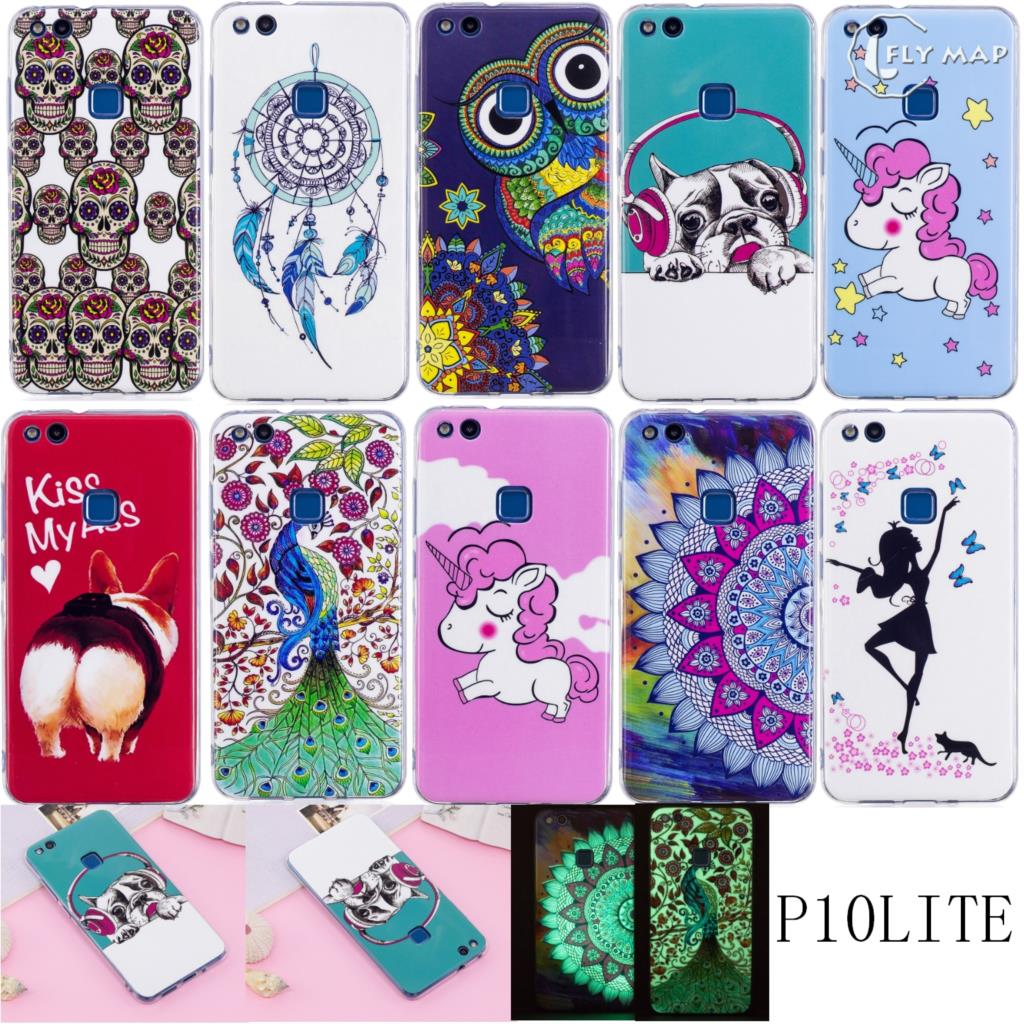 Shell Cover for Huawei P10 Lite WAS-LX1 Painting Cartoon TPU Soft Silicone phone case for Huawei P 10 Lite WAS LX1 TL10 Coque
