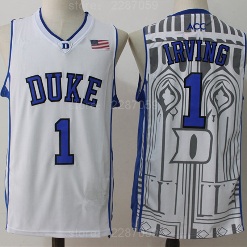 3a14b894031 ... ireland wholesale ediwallen duke blue devils basketball 1 kyrie irving  college jerseys men sport breathable embroidery