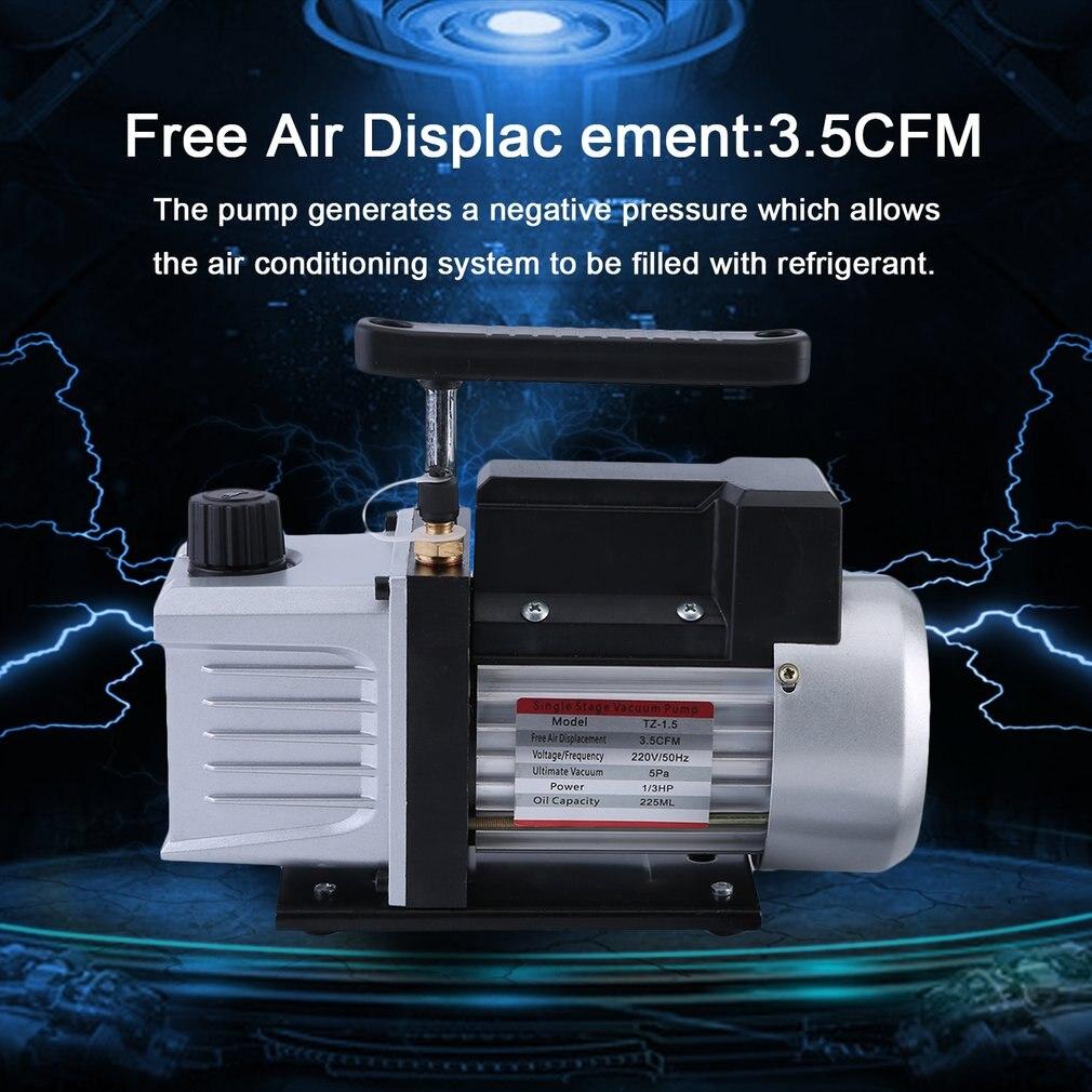 3.5CFM 1/3HP haute puissance unique étage 5 Pa pompe à vide pour les systèmes de climatisation de réfrigération prise EU
