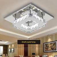 Modern minimalist led aisle lamp stainless steel crystal ceiling lamp free shipping