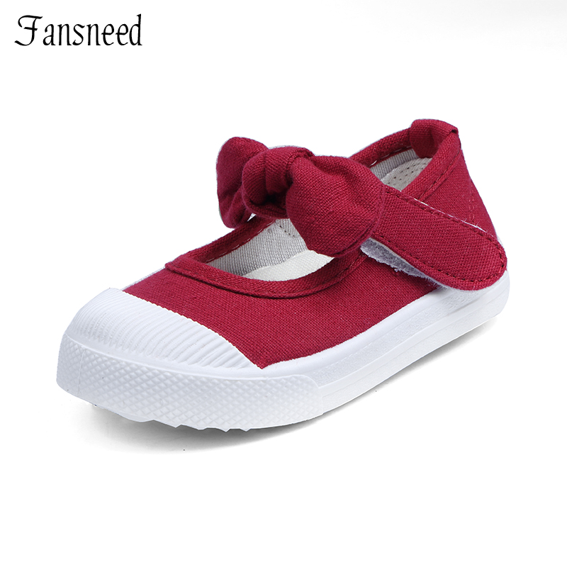 Spring  and  Autumn  new 2019 canvas bow children 's shoes girls - Children's Shoes