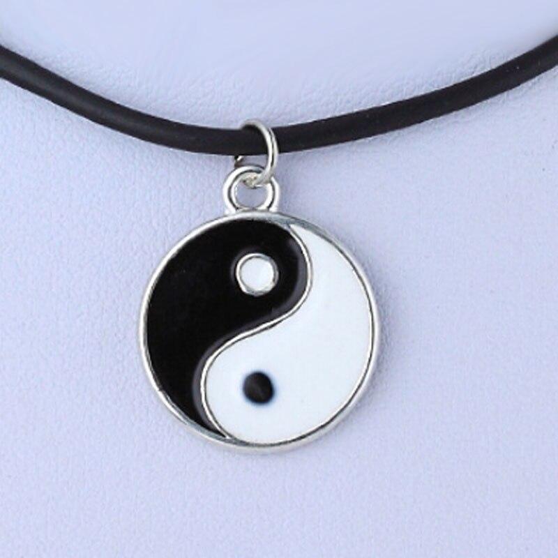 Модные ожерелья черно-белая подвеска Инь Янь для пар влюбленных дружбы унисекс ювелирные изделия подарки
