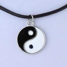 Moda colares preto e branco yin yang pingente para casais amante amizade unisex jóias presentes