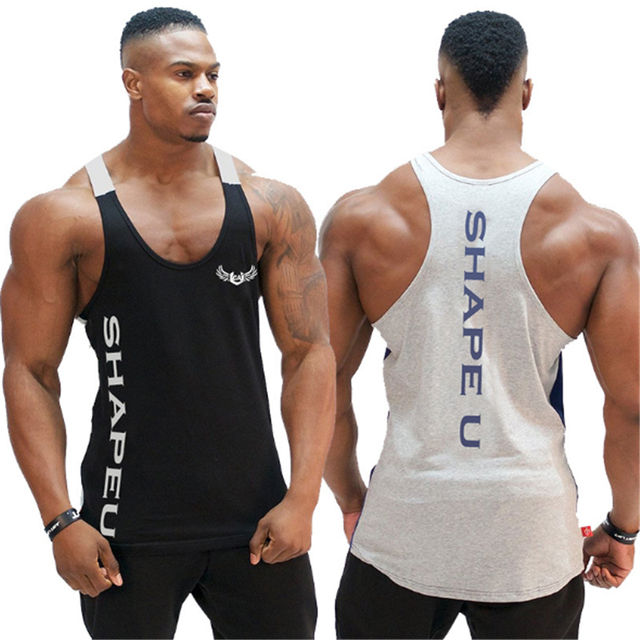 d49aef7ee4e9d Men Bodybuilding Tank top Gyms Fitness sleeveless shirt New Male Cotton  Crossfit clothing Fashion Singlet vest Undershirt m-xxl