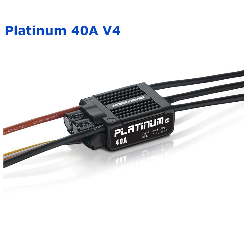 Original Hobbywing Platinum 40A V4 Brushless Electric Speed Controller