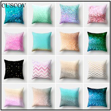 New best-selling colorful polyester printed sofa cushion cover fashion home pillowcases pretty pillow covers