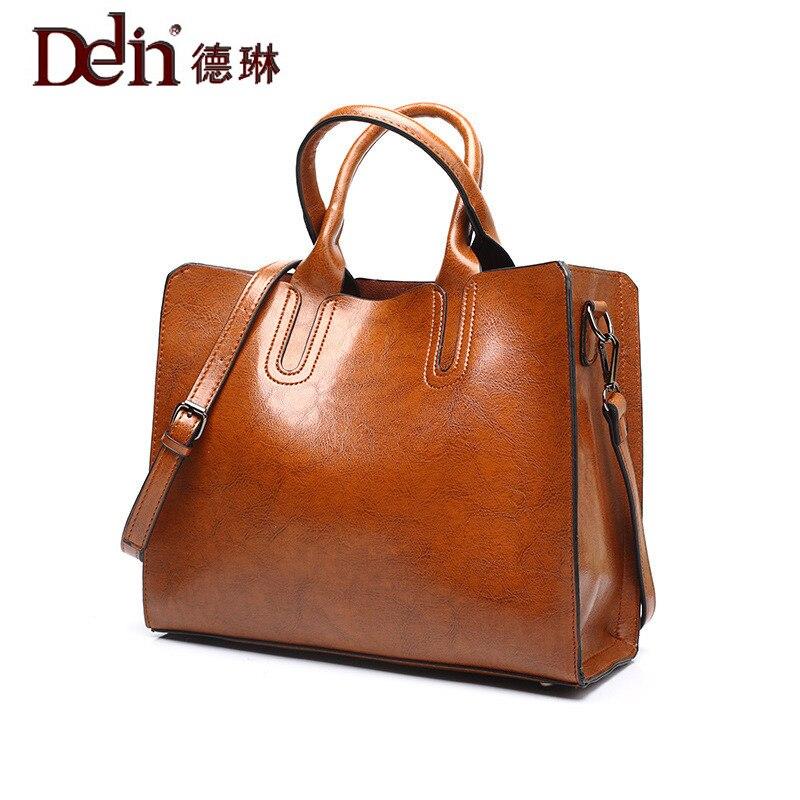 DELIN Aliexpress 2017 new handbag and simple oil wax Shoulder Tote Handbag bag bag Women Messenger Bag aliexpress v