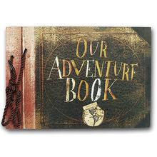 Vintage 40 pçs 40 páginas papel papel folhas cartão nosso meu álbum de livros de aventura artesanal pixar diy foto scrapbook álbum de fotos