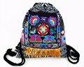 Tribal Vintage Hmong Thai Indian Ethnic Boho rucksack Boho hippie ethnic bag, backpack bag L size SYS-542A