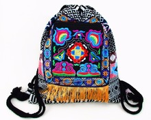 Tribal Vintage Hmong Thai Indian Ethnic Boho rucksack hippie ethnic bag, backpack bag L size SYS-542A