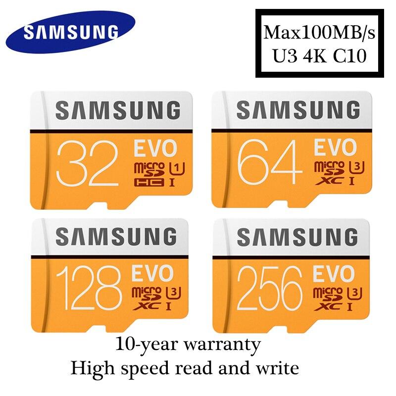 Samsung MicroSD card 32GB 64GB 128GB Memory Card UHS-I 100MB