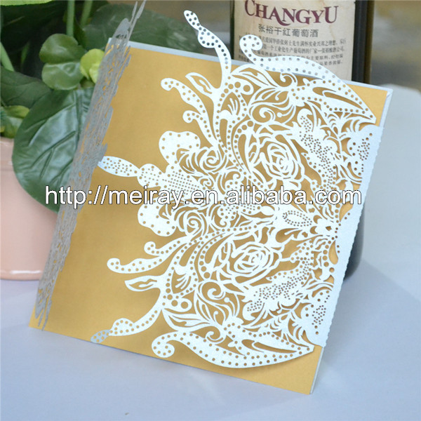 80pcs Lot 2017 Laser Cut Wedding Invitations Invitation Cards For Decorations Latest Indian Card Designs In From Home
