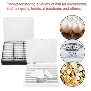 Image 3 - 33 Grids Nail Tip Make Organizer Opbergdoos Nail Art Rhinestones Bead Container Fake Nail Display Plank Case Manicure Gereedschap