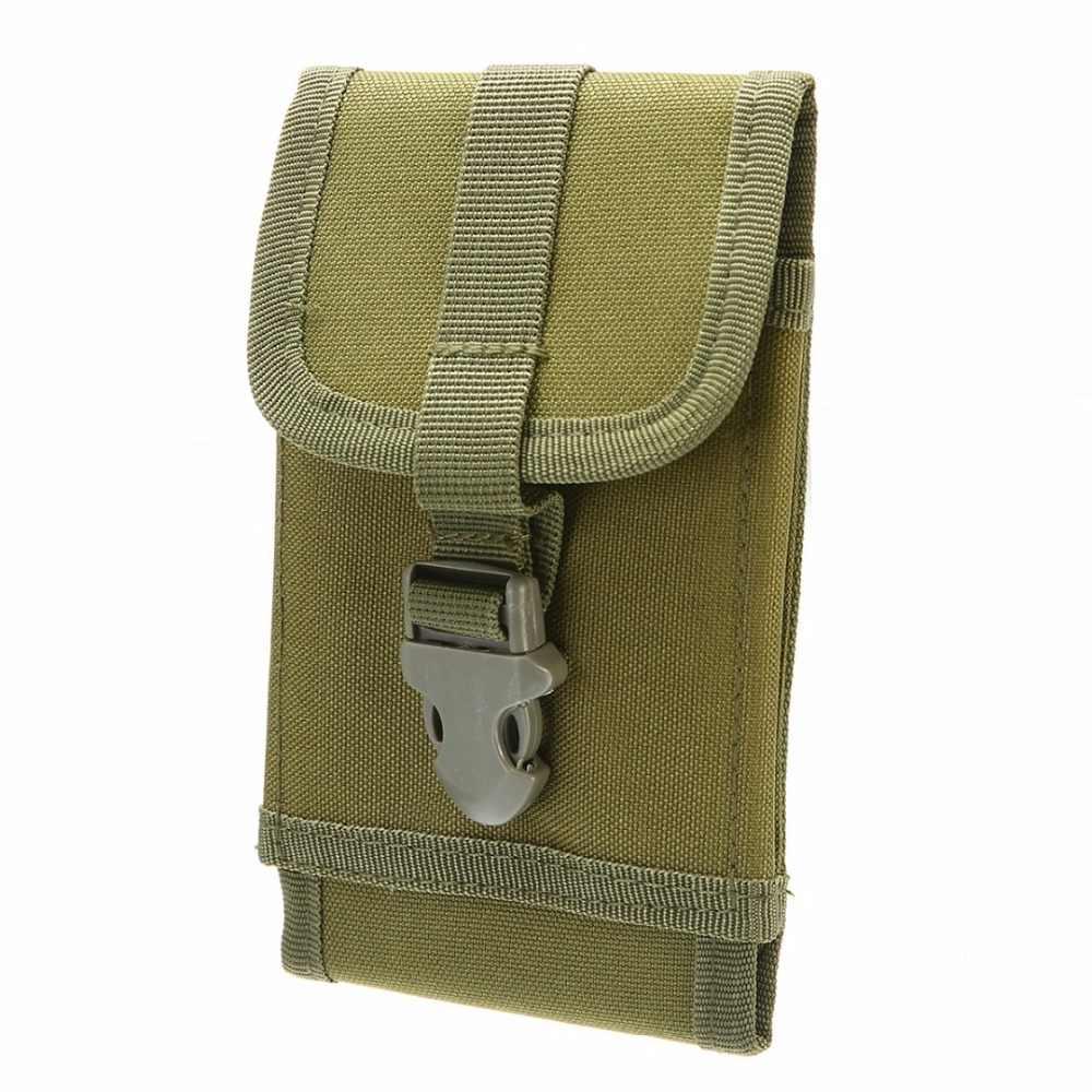 Mayitr çok fonksiyonlu taktik askeri 600D Oxford kumaş Molle akıllı telefon kemer kılıfı paketi kapağı siyah/ordu yeşil /haki