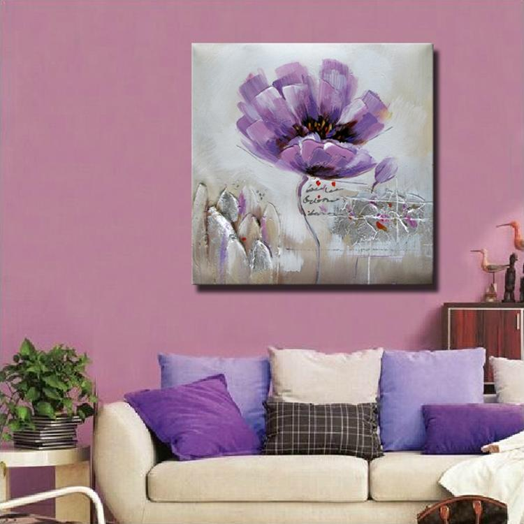 ᗕModern flower painting handmade oil on linen canvas modern flower ...