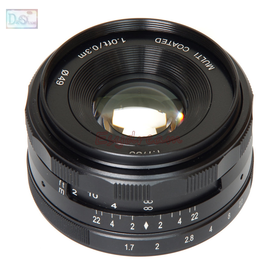35mm 35 F1.7 Manual Lens for Sony E Mount NEX 3 3N C3 5 5N 5R 5T 6 7 A6500 A6300 A6000 A5100 A5000 A3000 A3500 35mm f1 6 cctv lens c mount camera lens lens hood kit for sony a6500 a6300 a5100 a6100 a6000 a5000 a3000 nex 5t nex 3n nex 6