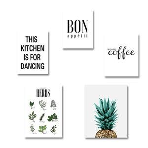 Image 5 - Cuadro sobre lienzo para pared con hierbas botánicas, cartel nórdico, letras blancas y negras, citas, decoraciones de pared, fotos sin marco