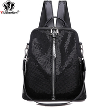 Fashion Sequin Backpack Female 2019 High Quality Nylon Backpack Women Back Pack Large Capacity School Bags for Teenage Girls