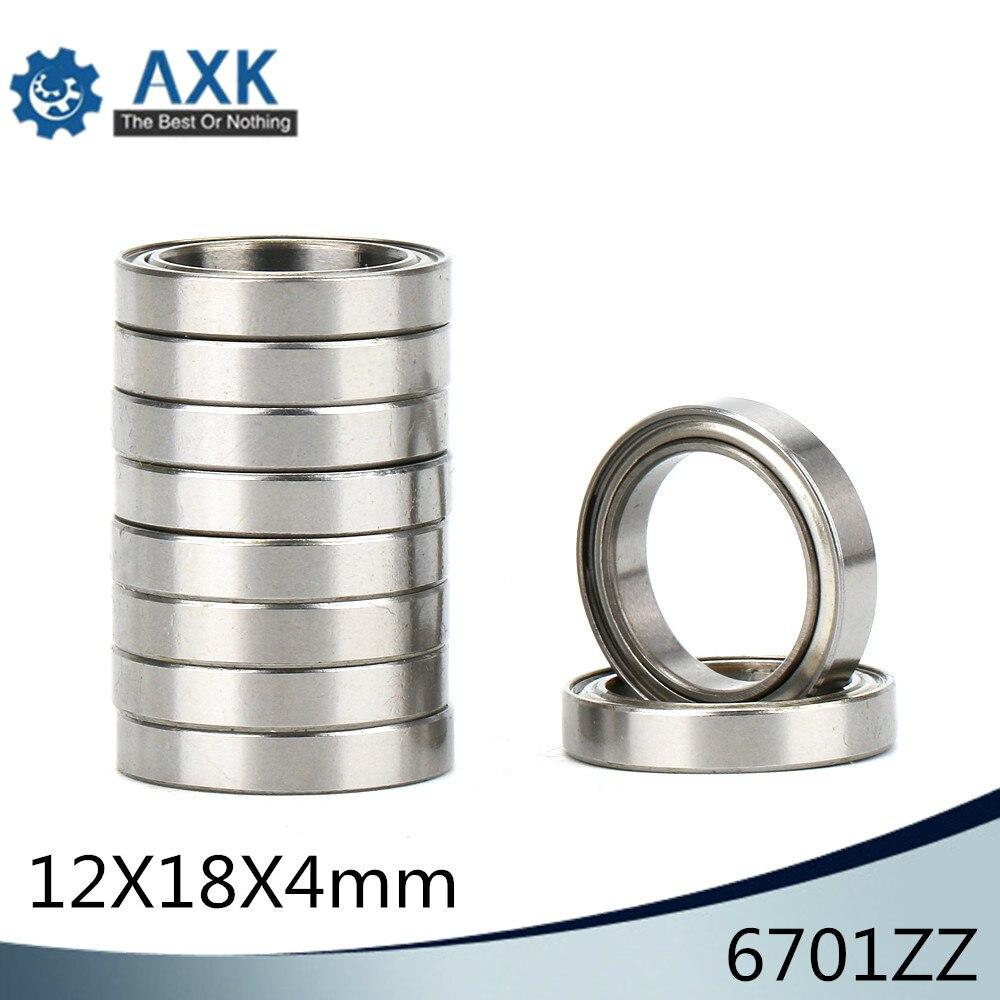 S6701zz 440c Stainless Steel Ball Bearing Bearings 6701zz 12x18x4 mm 4 PCS
