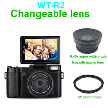 """full hd 1080p Dslr Digital digicam with three.zero"""" TFT show and 4x digital zoom digicam/rechargeable lithium battery free delivery"""