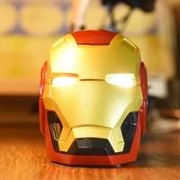 The Avengers Iron Man Helmet Bluetooth speaker Radio Golden Iron Man Mask Wireless mini desktop Music Player