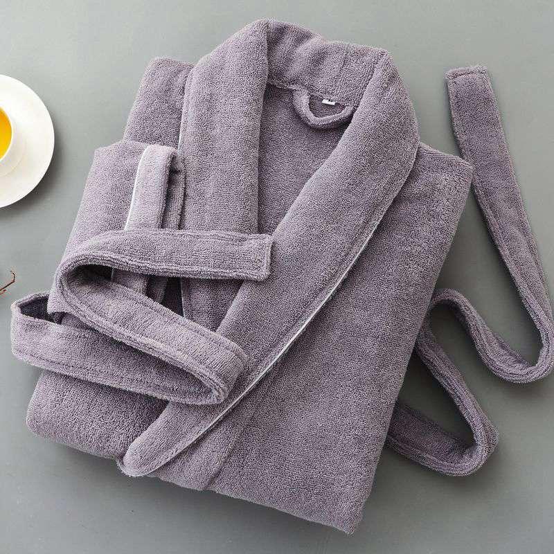 Winter Cotton Towel Fleece Men Bathrobe Thick Long Soft Robe Male Long Leeve Plus Size XXL Sleepwear Mens Robe Bathrobe White