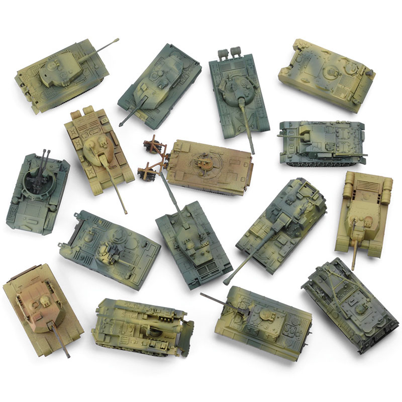 6Set Different Model 1/90 Military Assembled Tank DIY Building Block Toys Car Collection Decoration Gift For Children