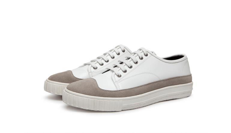 Casual Confortáveis Coreano Tendência Estudante Dos Sapatos Preto Juventude 2018 Couro branco De Homens Novos Com Masculinos UqOaYR