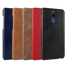 Luxury Retro Cowhide Case For Huawei Mate 10 Lite Genuine Cow Leather Phone cover for Huawei Nova 2i Case For Huawei Honor 9i huawei mate 10 lite case huawei nova 2i cover luxury flip leather wallet book cover case for huawei mate 10 lite case honor 9i