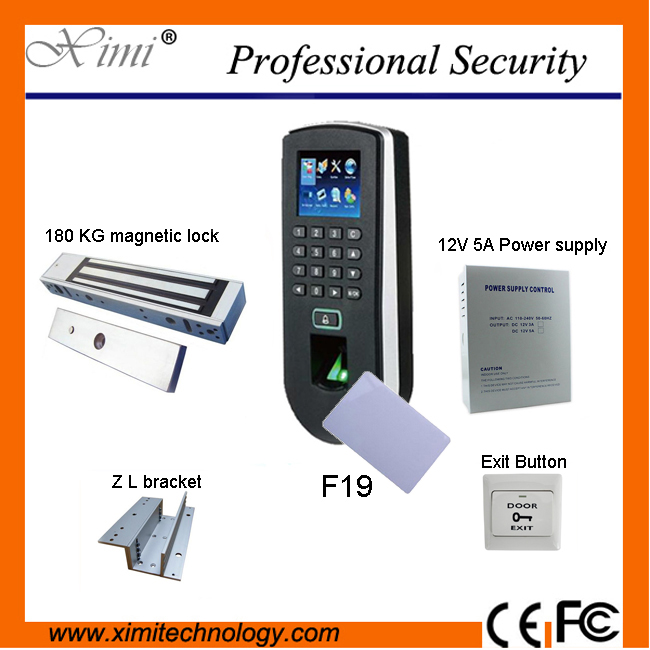 DIY ZK independent biometric fingerprint test and access control system F19 access controller component optional IC card