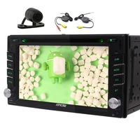 Rear Camera+Android 6.0 Car DVD Player Stereo audio headunit map Radio automobile dvd 1080P Video Player Wifi supports TV OBD2
