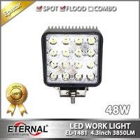 48W LED Work Light Tractor Headlight Farm Agriculture Equipment High Power Working Flood Lamp Heavy Duty