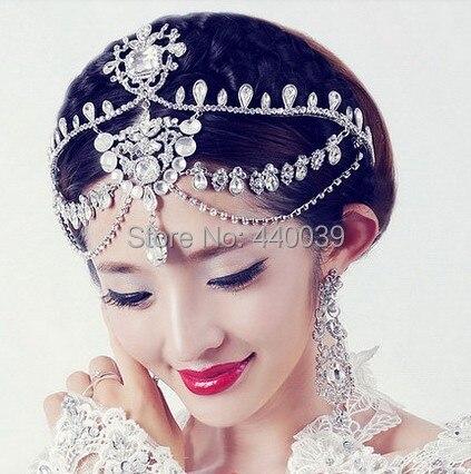 2016 FW64 alto grado brillantes Rhinestones nupciales Crown Princess Crown accesorios del pelo de la boda