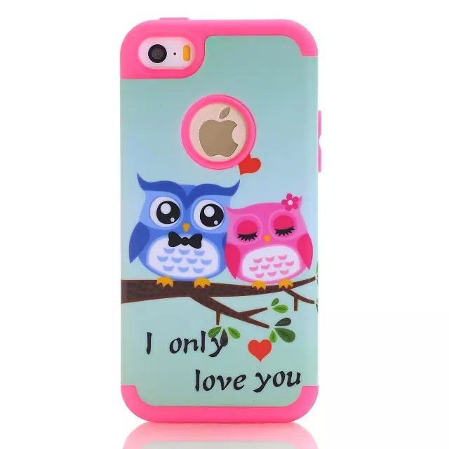 ᗐFor iPhone 5C Case Cute Owl Pattern 3 Layer Heavy Duty High