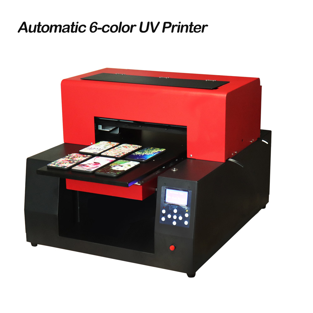 Automatic 6 color A3 UV Printer LED UV Flatbed Printer Inkjet Printer for Cylinder, Bottle, Phone Case, T-shirt Printing 6 color a3 size uv printer phone case printer led uv flatbed printing machine r1390 a3 uv printer for phone case acrylic metal