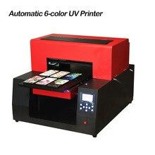 Automatic 6 color A3 UV Printer LED UV Flatbed Printer Inkjet Printer for Cylinder, Bottle, Phone Case, T-shirt Printing