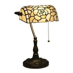 Europejski Tiffany  ręcznie robiony szklany kwiaty stół lampa dla przedpokój łóżko pokój Bar apartament do czytania ze szkła światła H 39 cm 1048|Lampy stołowe LED|   -