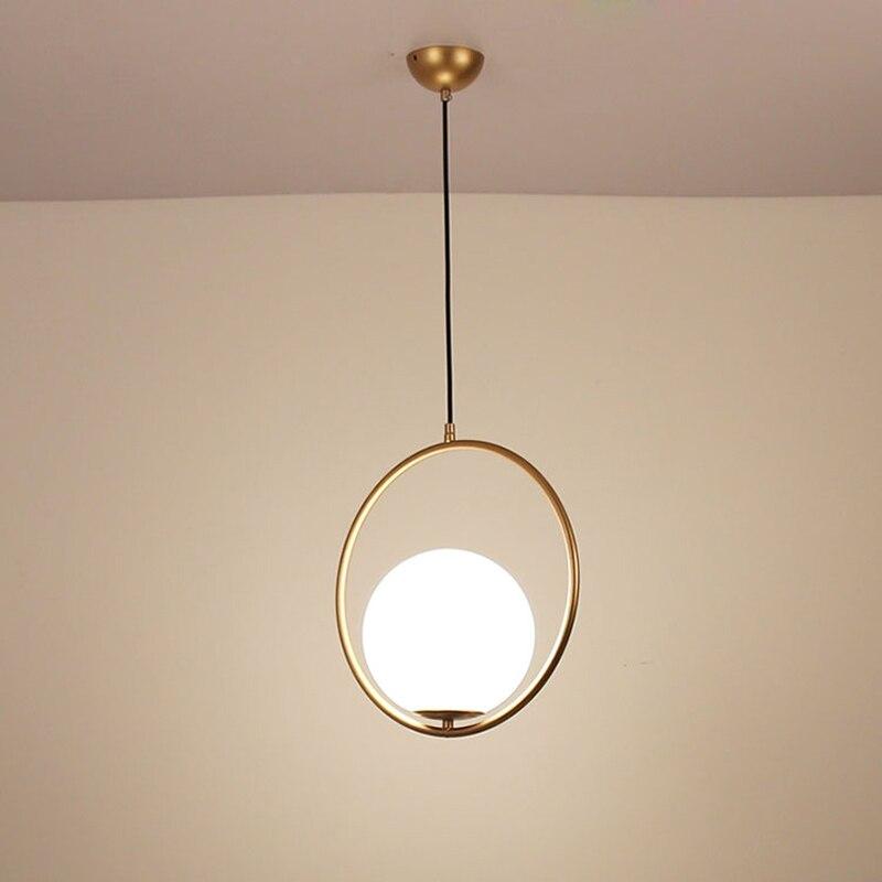 Creative Pendant Lights Led Modern Hanging Lights Glass Ball Suspension Hanging Lamp Home Lighting For Kitchen Pendant Lamps