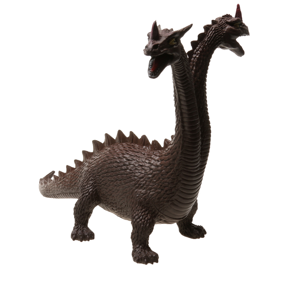 Cool Lifelike Twin-headed Dinosaur Figures Dino Models Kids Toy Collection