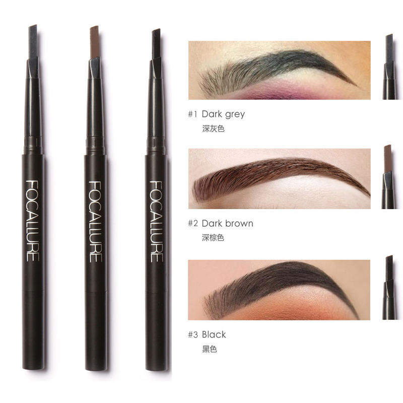 Professional eye brow brand cosmetics 3 color pigment for Tattooed eyeliner brand