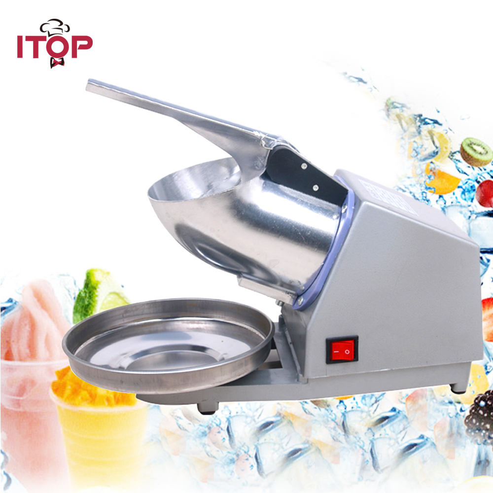 ITOP Manual Electric Ice Crusher Ice Crushing Machine Snow Ice Maker DIY 220V 110V 240V edtid new high quality small commercial ice machine household ice machine tea milk shop