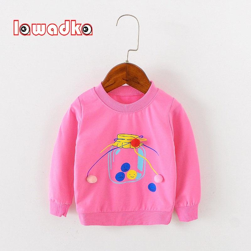 Lawadka Cute Bottle Long Sleeve Tops Autumn Clothing Baby Boy Girls Sweatshirts Children T shirts for Kids Boys Clothes