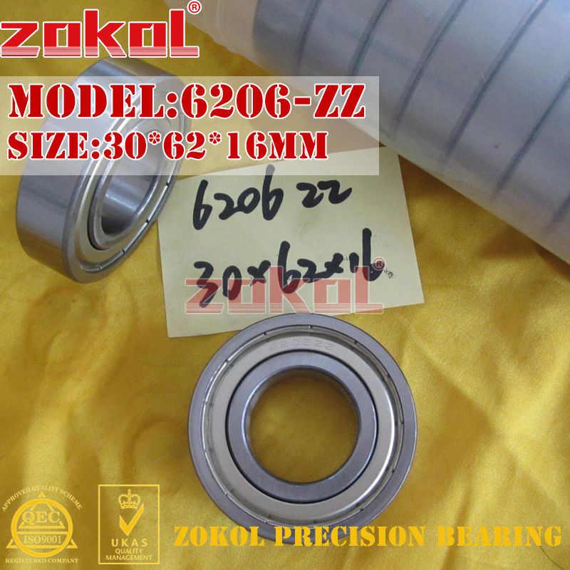 ZOKOL 6206RS แบริ่ง 6206 2RS N ฿ Z3V3 6206 ZZ Z1 S6206zz 6206-2RSN Deep Groove ball bearing 30*62 * * * * * * * 16 มม.