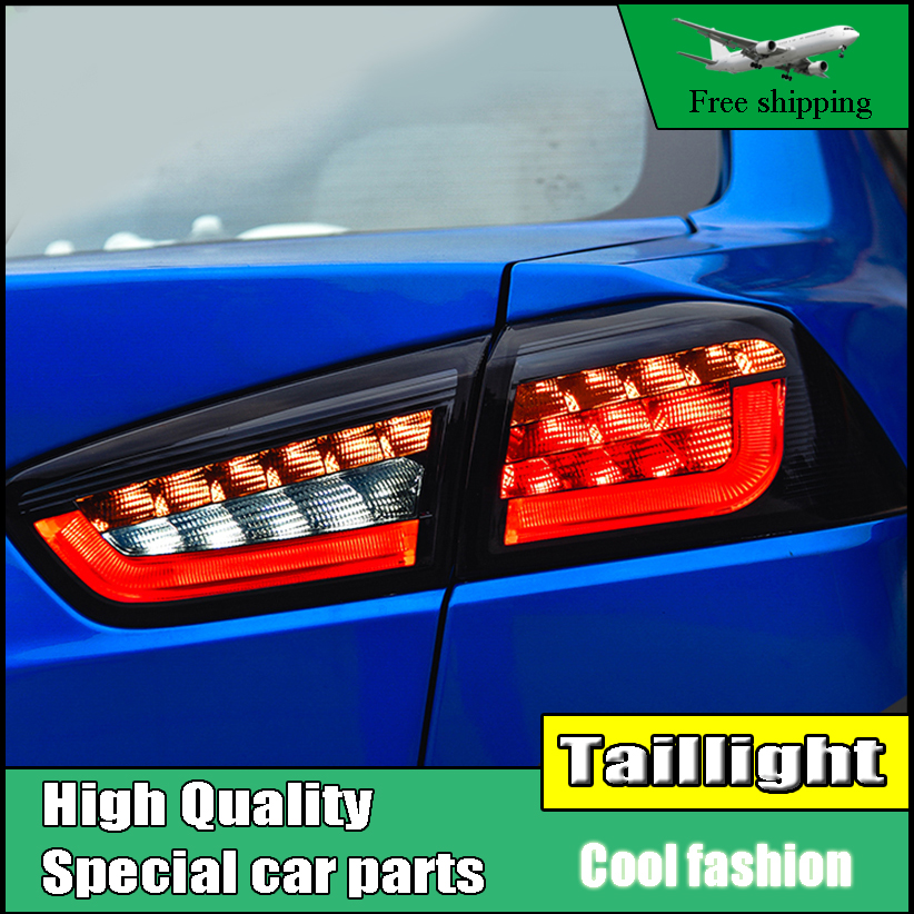 Car Styling TailLight Case For Mitsubishi Lancer EX 2009-2016 Taillights LED Tail Lamp Rear Lamp DRL+Brake+Park+Signal light car styling tail light case for suzuki swift taillights 2005 2014 led tail lamp rear lamp drl brake park signal light