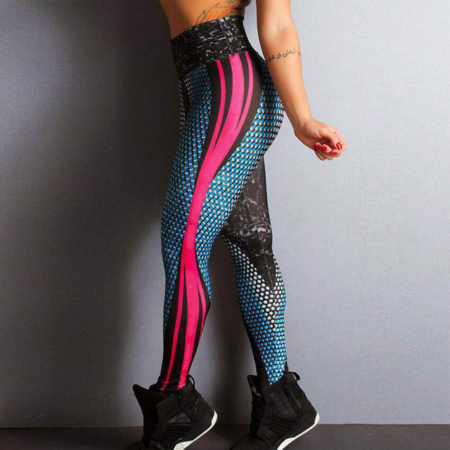 Plus Size Fitness Leggings Bodybuilding Femme High Waist Sport Dancing Legging Women Snake Print Push Up Legins Jogging Pants