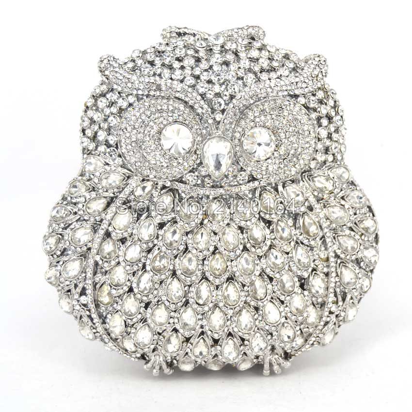 Diamond Crystal Mini Evening Party Bag Women Day Clutches Ladies Chain Gold owl Clutches Purses and Handbag Q42 luxury crystal clutch handbag women evening bag wedding party purses banquet
