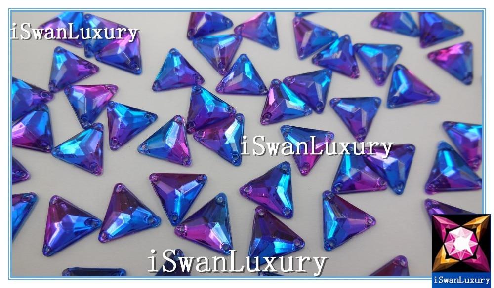 Для богини треугольник Королевский Фиолетовый 12 мм кристаллы свободные бусины ручной работы стразы камни пришить для швейные Стразы бусины камни