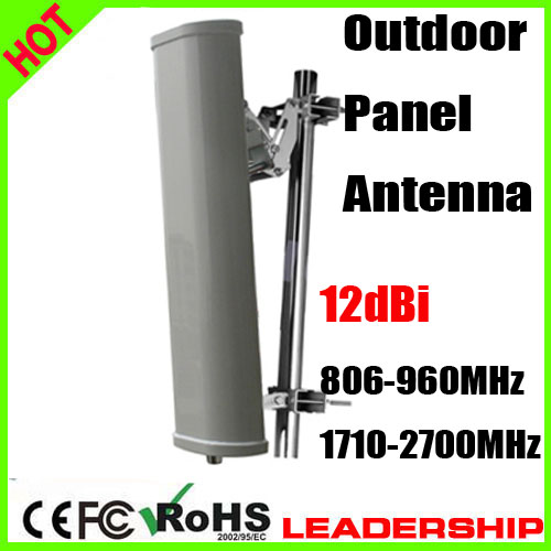 2G 3G 4G Dual Broadband Panel Directional Antenna Outdoor Antenna 12dBi Big Power Outdoor Panel Antenna 806mhz-2700mhz Antenna