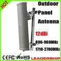 2G 3G 4G Dual Broadband Panel directional antenna outdoor antenna 12dBi Big power outdoor panel antenna 806mhz-2700mhz antenna