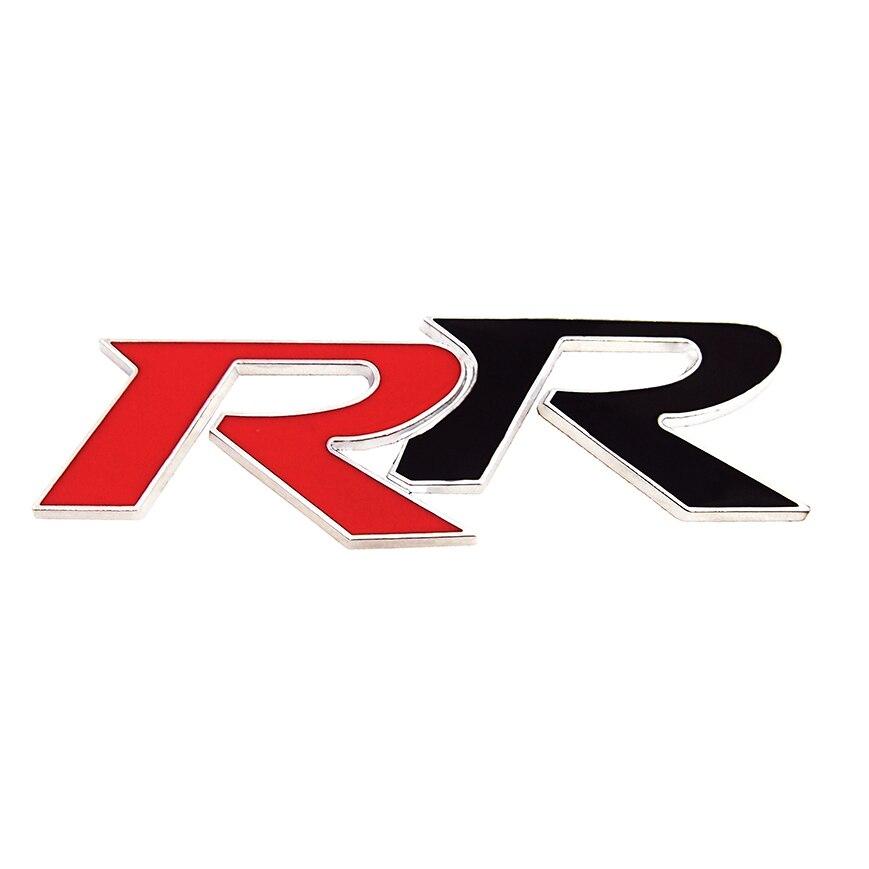 3d Metal Rr Emblem Logo Trunk Rear Badge Decoration Car